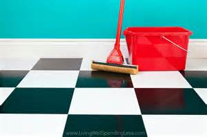 cleaning floor living well spending less