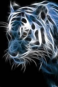 neon tiger black iphone background