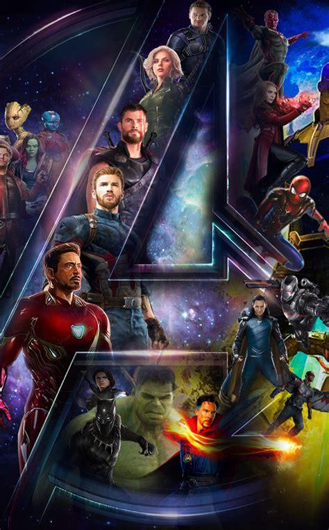 avengers infinty war star cast  logo full hd wallpaper