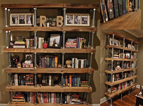 Big Bookshelf by Diy Industrial Rustic Bookshelf Reclaimed Lumber