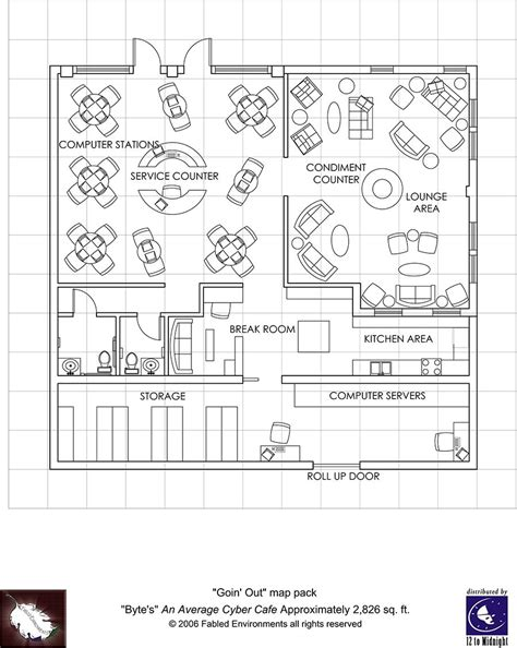 Floor Layout Of An Cafe by Modern Floorplans Cyber Cafe Fabled Environments
