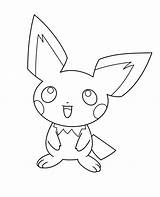Pichu Coloring Pokemon Printable sketch template