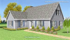 cape home designs baldwin modular cape house plans