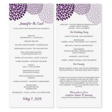 wedding program template instantly by karmakweddings