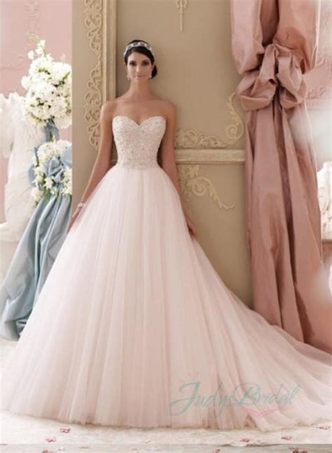 blush colored wedding gowns jol229 2015 blush pink colored sweetheart tulle princess