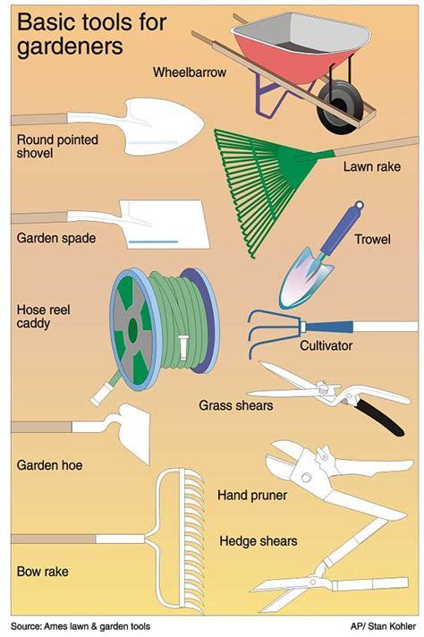basic gardening tools basic gardening tools