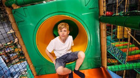 Fun Soft Play at Busfabriken Indoor Playground - YouTube