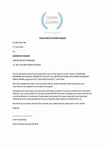 Cover letter for tender proposal for Cover letter for project proposal submission