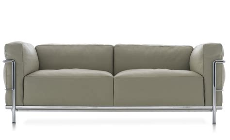 Sofa Niedrige Sitzhöhe by Le Corbusier Lc3 Two Seat Sofa With Cushions