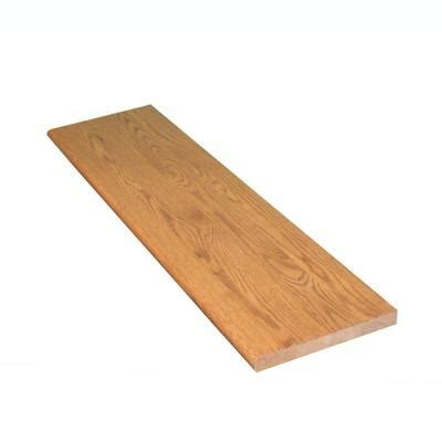 oak stair treads home depot stairtek 1 in x 11 5 in x 36 in prefinished gunstock red oak tread btro113600250 the home depot