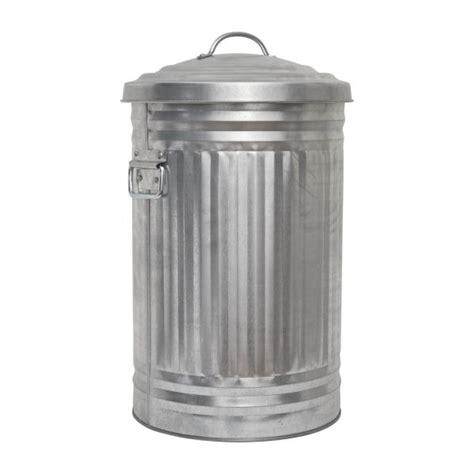 poubelle cuisine retro alto poubelles argenté métal habitat