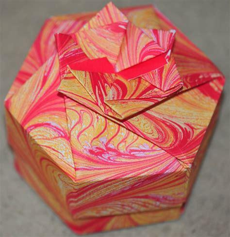 sechseckige schachtel falten origami schachteln basteln eine prima idee archzine net