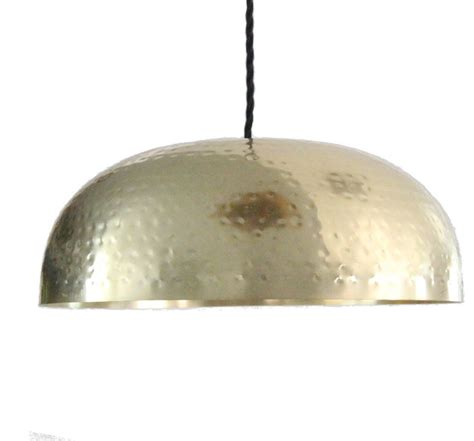 hammered brass gold dome pendant light  pendant