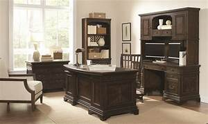 Aspenhome, Aspenhome, Essex, Curved, Executive, Desk, Home, Office, Set, In, Molasses, Brown