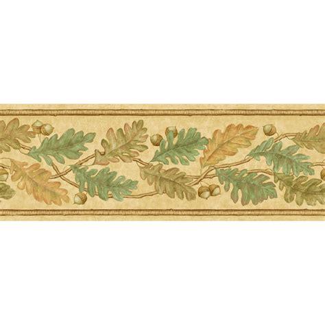 "Shop Imperial 678"" Oak Leaves Prepasted Wallpaper Border"