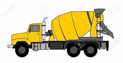 Concrete Mixer Truck Clipart Vehicle Vector Cement