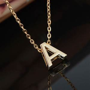 diy a s letters charm pendant necklace women simple With letter charm choker