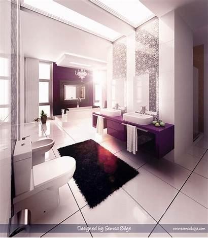Bathroom Purple Designs Modern Inspiring Soul Glamorous