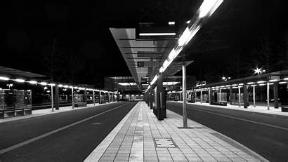 Bus Station Stop Anime Wallpapers Subway Architecture