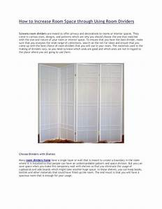How, To, Increase, Room, Space, Through, Using, Room, Dividers