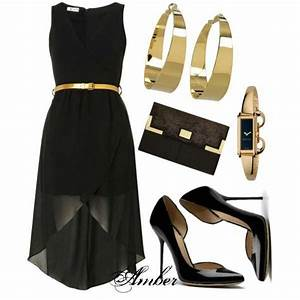Black high low with gold accessories | Little Black Dress ...