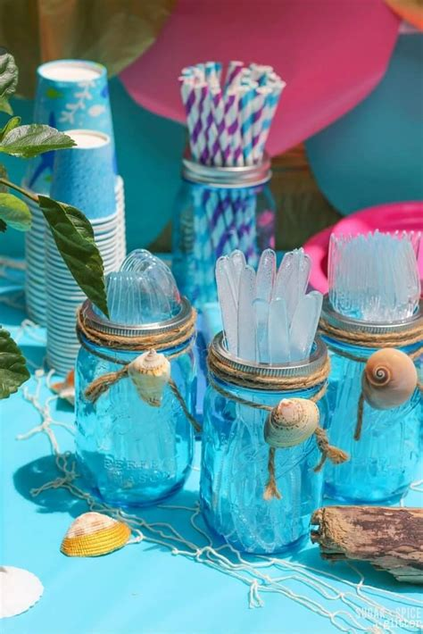 mermaid birthday party sugar spice  glitter