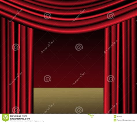 red curtain stage stock illustration image  drapery