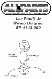 Allparts Electric Guitar Wiring Kit For Gibson Les Paul Jr