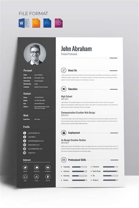minimal creative cv resume template  website