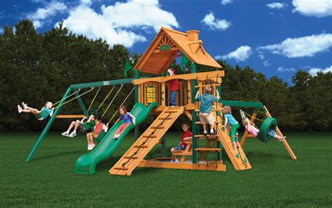 Swings Sets by Gorilla Playsets With Free Shipping Wood Playsets