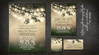 backyard wedding invitations read more rustic vintage wedding invitation with twinkle lights wedding invitations