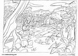 Claim Jungle Coloring Ruins Drawing Template sketch template