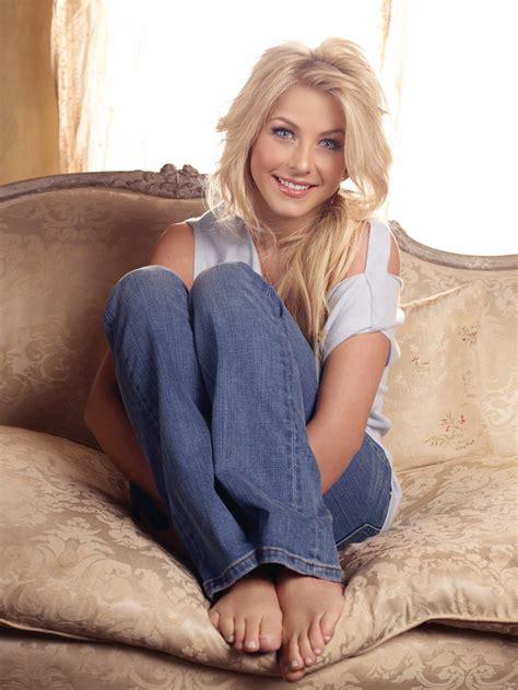 women blonde long hair dancer actress blue eyes sitting barefoot julianne hough