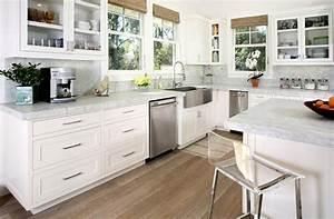Plan De Travail Cuisine Marbre : cuisine plan de travail de cuisine moderne clair en marbre ~ Melissatoandfro.com Idées de Décoration