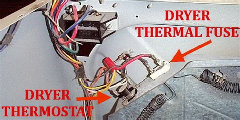 Fuse Box Washer And Dryer by Dryer Not Heating Check Dryer Thermal Fuse On Back