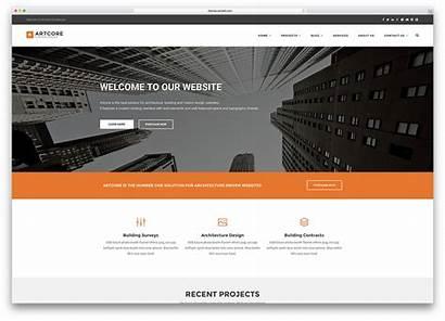 Construction Company Themes Wordpress Homepage Modern Business