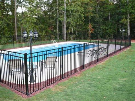 pool fence ideas aluminum fence pictures and ideas