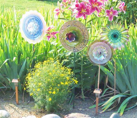 unique garden decor yard art photograph sale recycled glas