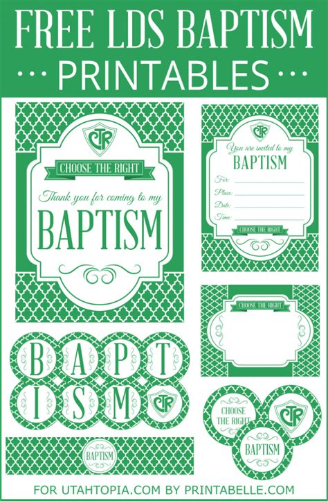printable lds baptism invitations