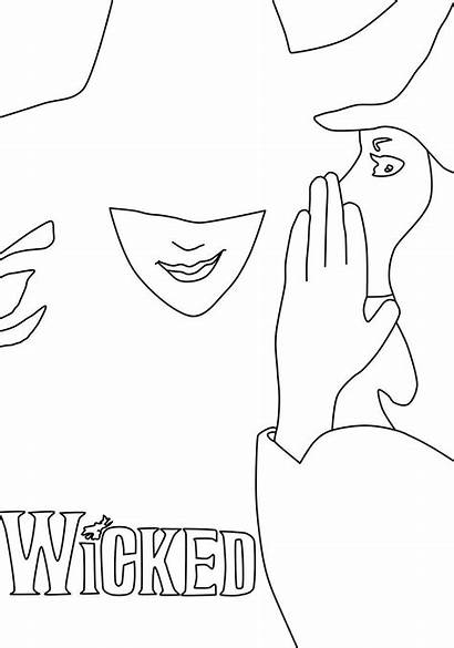 Wicked Pages Coloring Musical Broadway Lineart Theatre