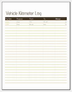 Inventory Control Excel Sheet Vehicle Kilometer Log Template For Ms Excel Excel Templates