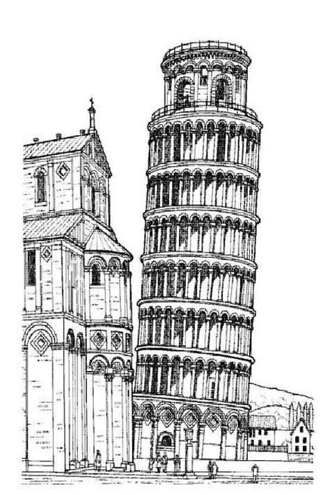 toren van pisa tekening kleurplaten en zo 187 kleurplaat van scheve toren van pisa