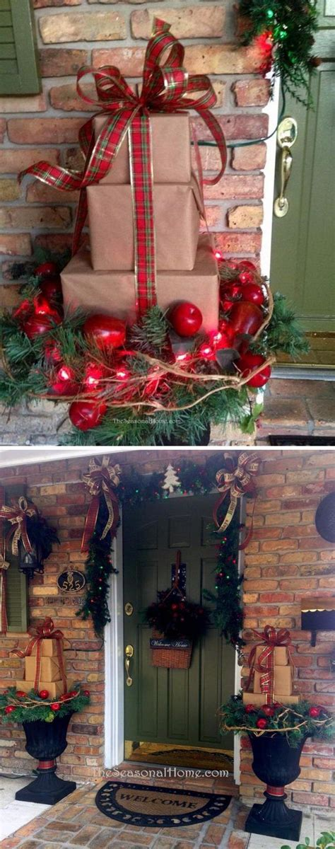 exterior christmas decorating net best 25 outdoor planters ideas only on