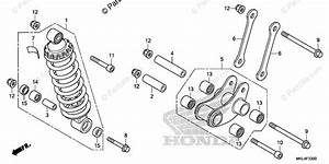 Honda Motorcycle 2019 Oem Parts Diagram For Rear Shock Absorber