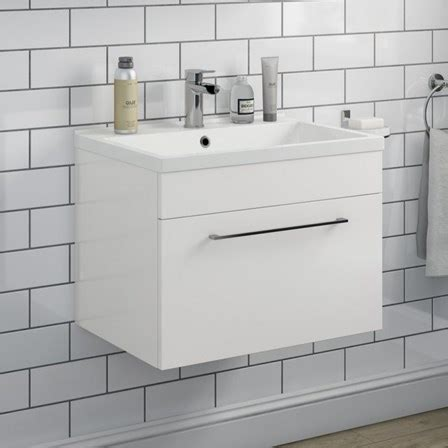 600mm wall hung vanity unit vellamo aspire 600mm wall mounted 1 drawer vanity unit