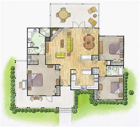 floor plans  elevations architectural illustration