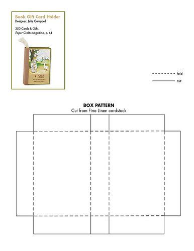 gift card money holder template this free pattern to make a book gift card holder
