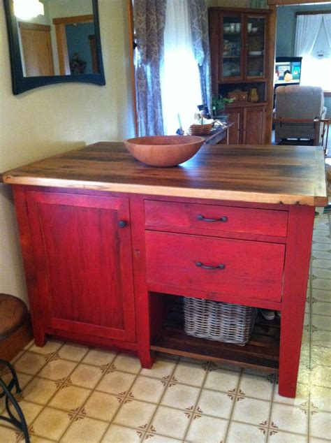 red oak top kitchen island furniture   barn