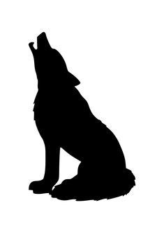 howling wolf silhouette clipart  clipart design