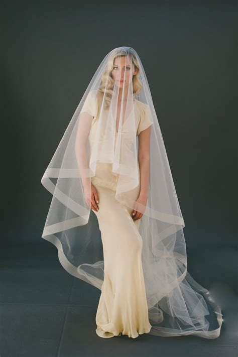 champagne cathedral length veil  tier drop veil lunss